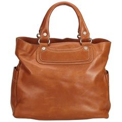 Celine Brown Large Leather Boogie