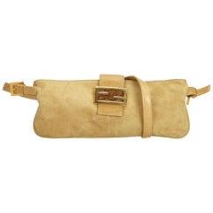 Fendi Brown x Beige Suede Crossbody Bag