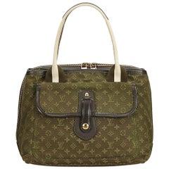 Louis Vuitton Green x White Monogram Mini Lin Sac Mary Kate