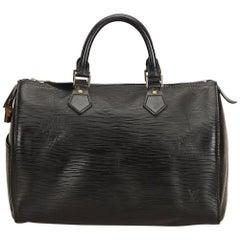 Louis Vuitton Black Epi Speedy 30