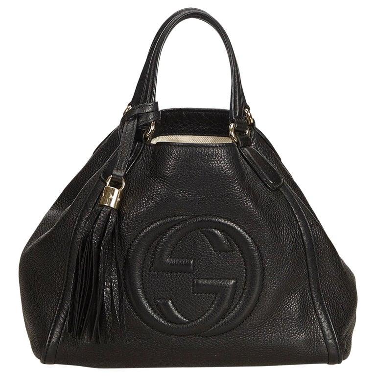 8fc0c161a10 Gucci Black Small Soho Leather Handbag at 1stdibs