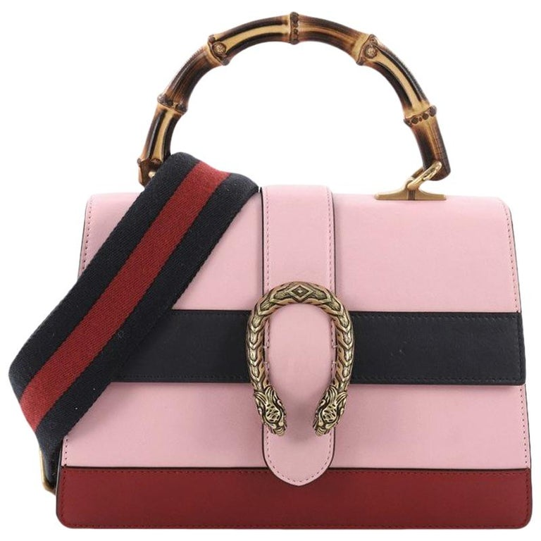 f98fe25fc69 Gucci Dionysus Bamboo Top Handle Bag Colorblock Leather Medium For Sale