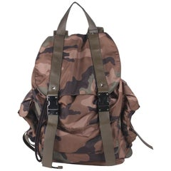 Valentino Garavani Military Green Camo Rockstud Backpack Bag