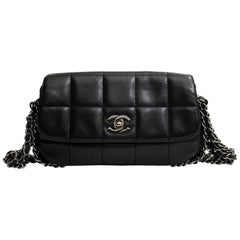Chanel Black Leather Multiple Chain Bg