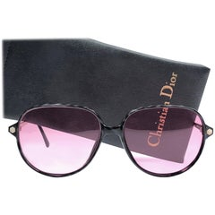 New Vintage Christian Dior Monsieur 2368 Oversized Sunglasses 1970's Austria