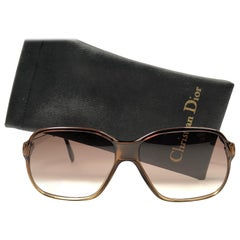 New Vintage Christian Dior Monsieur 2080 Oversized Sunglasses 1970's Austria