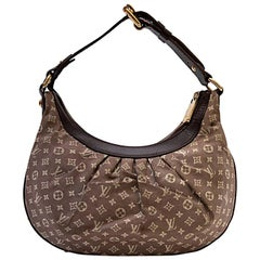 LOUIS VUITTON Bag in Brown Monogram Canvas and Burgundy Leather Trim