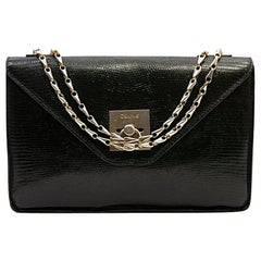 CELINE Vintage Bag in Black Lizard