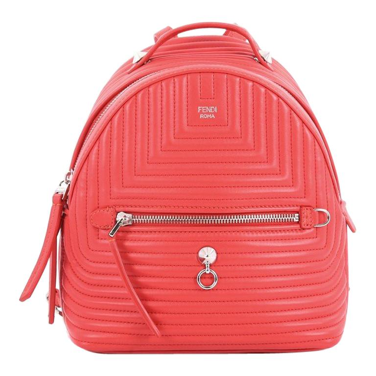 Fendi DotCom Backpack Quilted Leather Mini
