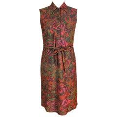 1960s Sorelle Fontana Red Lamè Wool Cocktail Party Dress