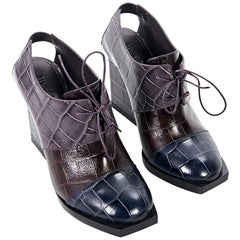 Multicolor Jil Sander Colorblock Embossed Ankle Boots
