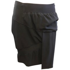 2009 Collection Balenciaga Black Asymetrical Skirt (42 Fr)