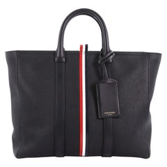 Thom Browne Short Tote Striped Leather Large