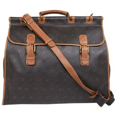 CHRISTIAN DIOR Travel Bag in Brown Monogram Canvas