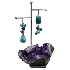 Studio Greytak 'Larimar Earrings on Amethyst' With Opal and Apitite