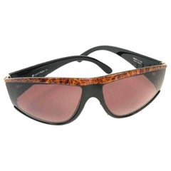 1980s Courrèges Brown and Gold-toned Sunglasses