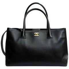2013/2014 Chanel Black Leather Executive Bag