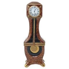 Vintage Hand Painted Limoges Porcelain Clock Trinket Box