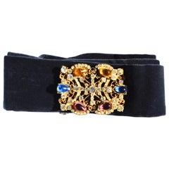 Deco Belt Buckles / Velvet Belt