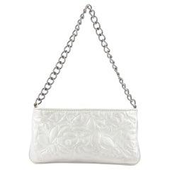 Chanel Camellia Chain Pochette Leather Small
