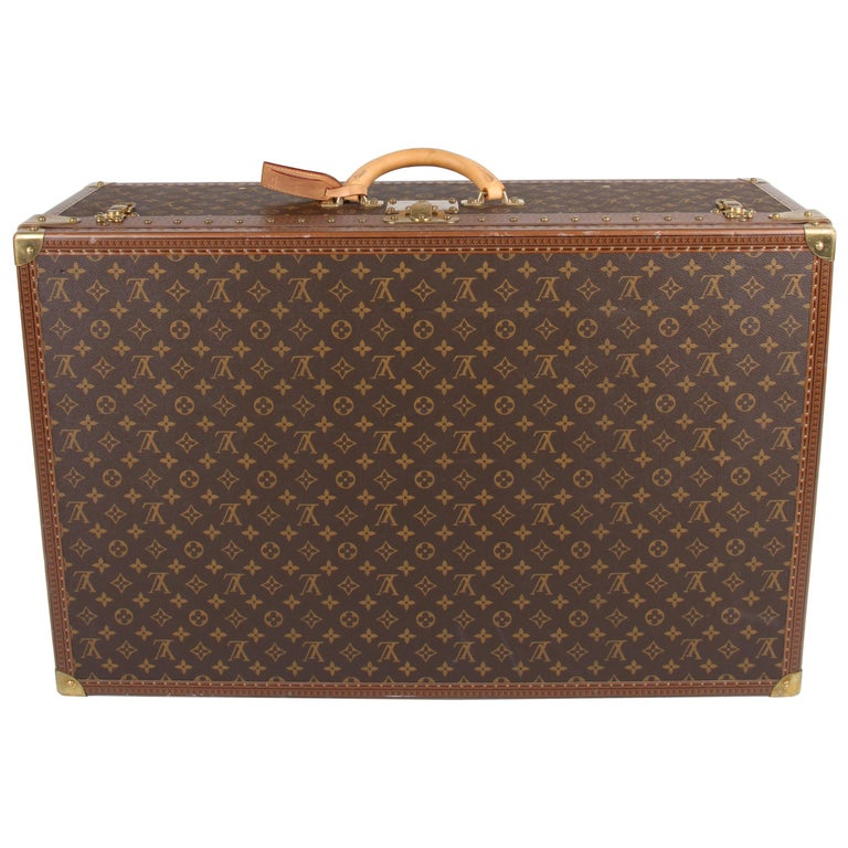Louis Vuitton Monogram Trunk Suitcase - brown   Louis Vuitton Monogram Trunk S For Sale