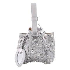 Alaia Wristlet Bucket Bag Embellished Leather Small