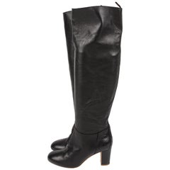 Chanel Knee High Boots - black leather