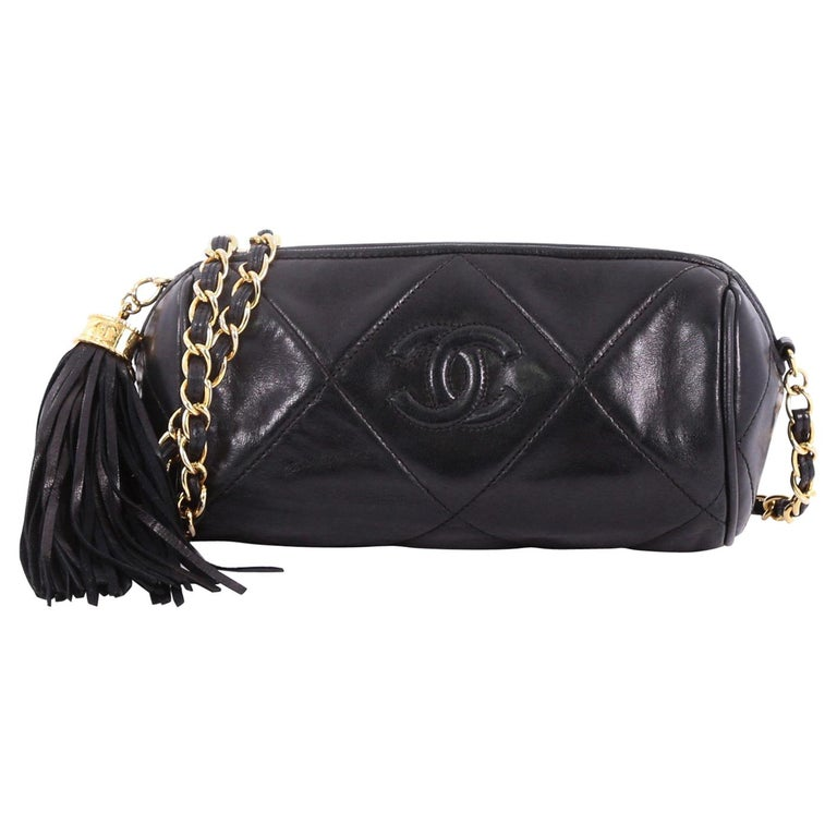 dd1e22aa104d Chanel Vintage Diamond CC Barrel Bag Quilted Leather Mini at 1stdibs