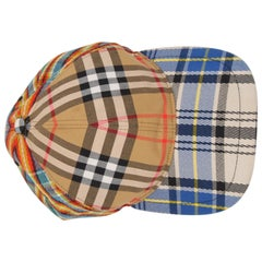 Buberry Patchwork Check Baseball Cap - beige/black/red/blue/white  Buberry Patch