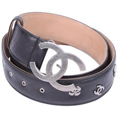 Chanel Lucky Charm Leather Belt - black