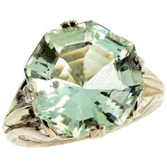 Glittering Green Fluorite Sterling Silver Ring
