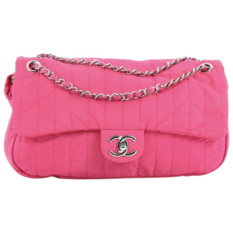a73e3a3dc40647 Chanel Soft S Flap Bag Vertical Quilted Nylon Jumbo At 1stdibs