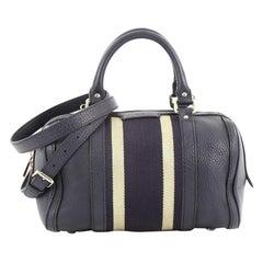 Gucci Vintage Web Boston Bag Leather Small