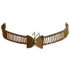 William deLillo 1960s Metal Butterfly Butterfly Belt