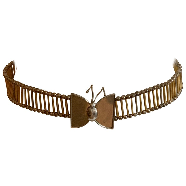 William deLillo 1960s Metal Butterfly Butterfly Belt For Sale