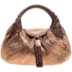 Fendi Bronze Leather Baby Spy Bag