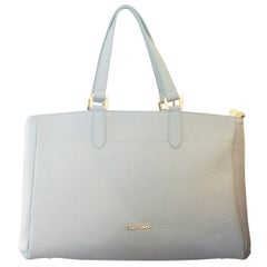 Pierre Cardin Pale Baby Blue Leather handbag bag