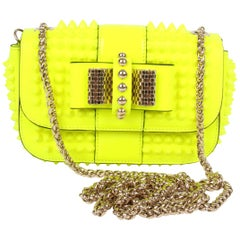 Louboutin Sweet Charity Cross Body Bag - neon yellow
