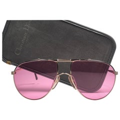 New Vintage Christian Dior Monsieur 2248 Rose Sunglasses 1970's Austria