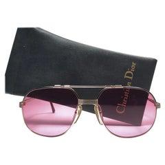 New Vintage Christian Dior Monsieur 2487 Gold Rose Sunglasses 1970's Austria