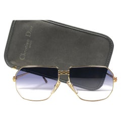 New Vintage Christian Dior Monsieur 2391 Gold Panthere Sunglasses 1970's Austria