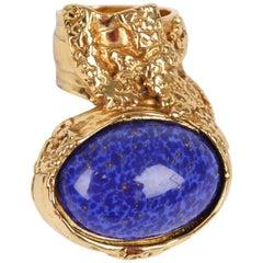 YSL Yves Saint Laurent XL Arty Ring Gold - blue