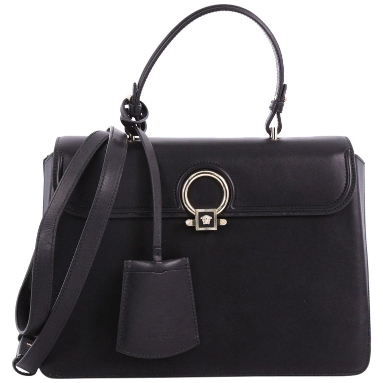 e9dcb3901c Versace Black Leather Handbag For Sale at 1stdibs