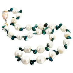 Huge Pearl Long Strand Necklace