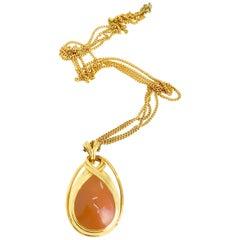 Lanvin vintage 1970s pendant necklace