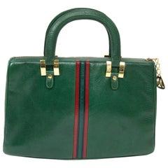 Morris Moskowitz Green Leather Handbag