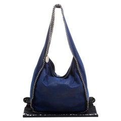 Stella McCartney Blue Faux Leather Falabella Hobo