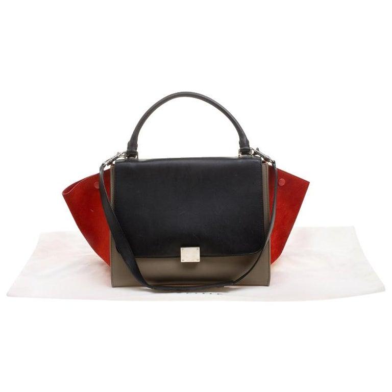 Celine Tri Color Leather and Suede Medium Trapeze Bag at 1stdibs e3d8eb48a85e1