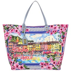 Dolce & Gabbana Women Shopping Canvas St. S. Tropez Mar blue BB6191-B9F591