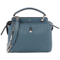 Fendi DotCom Click Top Handle Bag Quilted Leather Small
